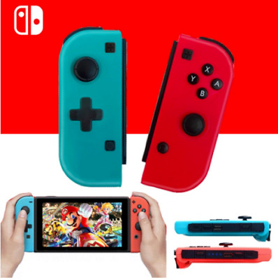 NEW Joy Con Nintendo Switch Wireless Controllers - Neon Red & Blue (L/R)