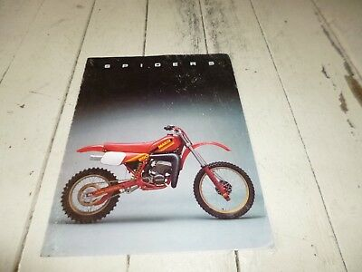 Maico Spider 1983 model sales brochure MC GS 250 490