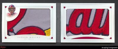 2016 National Treasures Yadier Molina BOOKLET  LOGO PATCH Relic 1/5 CARDINALS