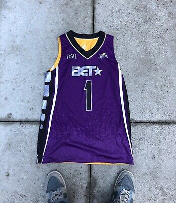 8ad582536 Rare One Of A Kind BET SPRITE Celebrity Basketball Game Autographed Jersey  Fisll