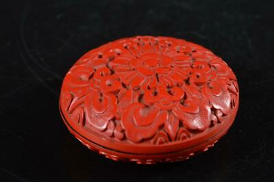 G7521: Chinese Resin Tsuishu pattern Arabesque sculpture INCENSE CONTAINER