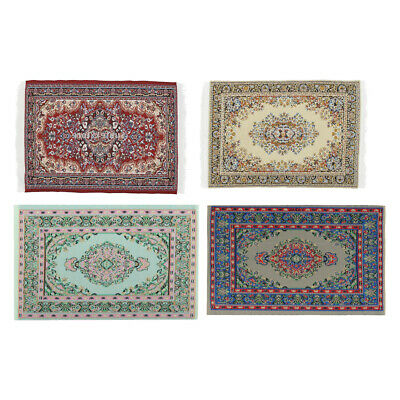 Miniature Turkish Style Carpet 1/12 Floor Coverings Dolls House Woven Rugs