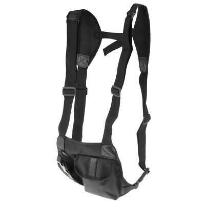 Radio Chest Harness Bag Holster Vest for Rescue Walkie Talkie Pack Pouch