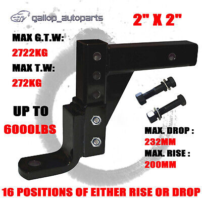 5000LBS Adjustable Tow Bar Ball Mount Tongue Hitch Trailer Roadsafe 4WD 6 Holes
