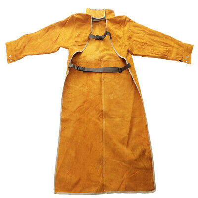 Leather Welding Apron - Heat & Flame-Resistant Heavy Duty Work Apron Brown