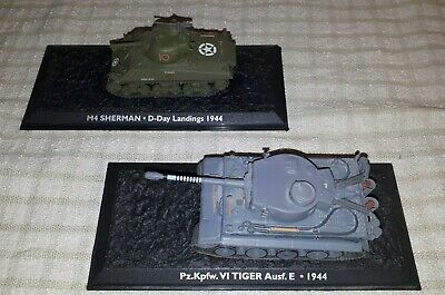 ATLAS EDITIONS SHERMAN 4 Tank D Day 1944 Mint Condition