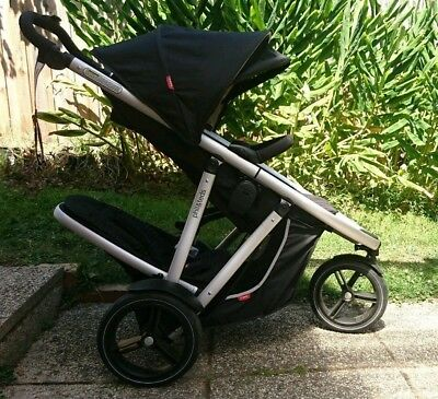 Phil & Teds Vibe Double Pram plus accessories - Excellent (As New) Condition