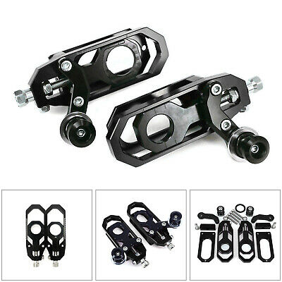 Aluminum Chain Adjuster Fit For Yamaha YZF R6 2008-2015 Black AU5