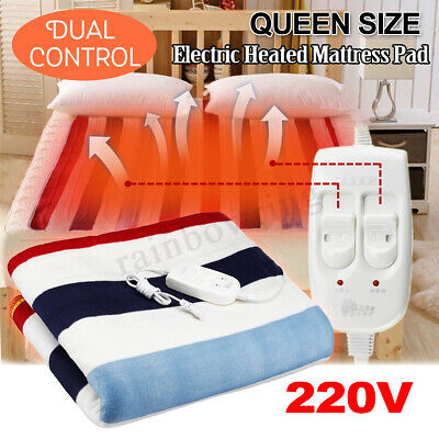 12v Car 20w Electric Heating Blanket Bed Mat Pad Heated Warmer Herter 1-2 Person