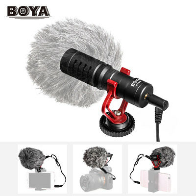 BOYA BY-MM1 Metal Mic Video Microphone for DSLR Camera Camcorder Smartphone PC