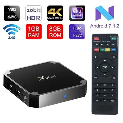 X96 MINI Android 7.1 Smart TV Box S905W 4K Quad Core H.265 HD Medien 1GB+8GB NEU