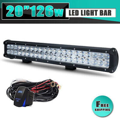 20inch LED Work Light Bar 126W Offroad SUV 4WD ATV UTE Truck For Ford Boat