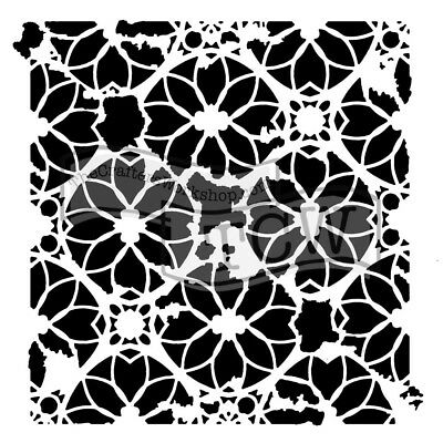 TCW - Stencil 6in. x 6in. - Distressed Lace