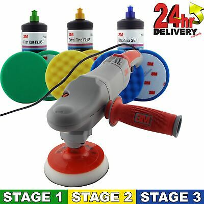 3M Electric Polishing Machine + 3M 3 Stage Cutting Compound Kit Complete Set
