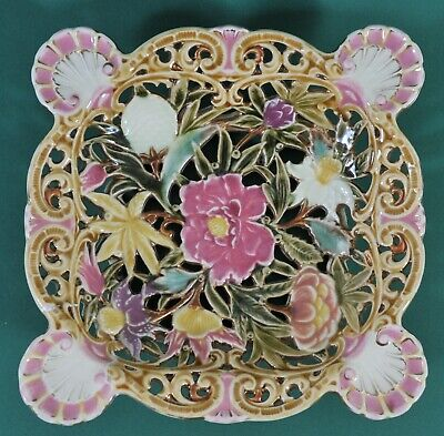 Antique Zsolnay Hand painted Dish, c. 1890