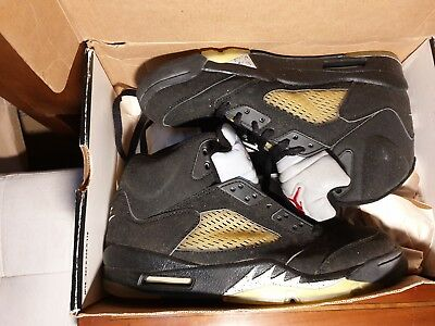 NIKE AIR JORDAN V (5) PS Oreo Black Grey Trainers Size 12.5 UK Boys ... 1fbfa1a90
