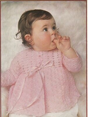 CROCHET Pattern for Baby Copy Matinee Jacket in Shell Stitch