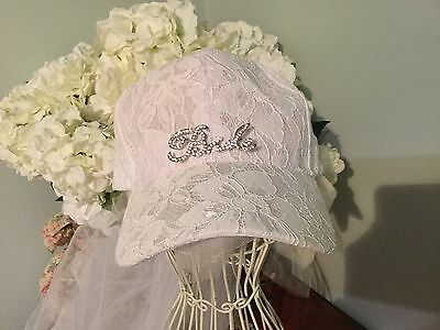 Hens Sporty/Beach Hens Baseball Cap With Veil,FREE bride To Be BADGE Party Hat