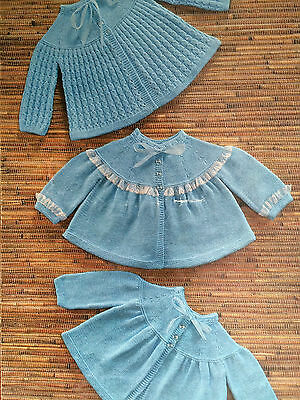 Baby Knitting Pattern Copy MATINEE COATS in 4 Ply Various Styles