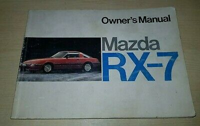 Mazda RX-7 Owners Manual 1984 VGC FREE POST RX7 Drivers Handbook FB Series 3