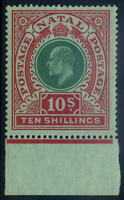 Natal 1908 KEVII 10s SG170 Superb Unmounted Mint with margin