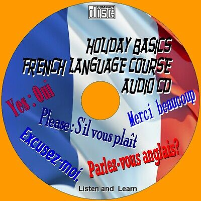 Holiday French Language Easy Use Listen/ Learn Course Car Home Gym Work Audio Cd