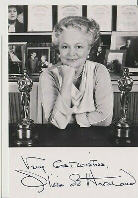 OLIVIA de HAVILLAND -b1916-still with us-Gone with the Wind (Melanie) signed pic