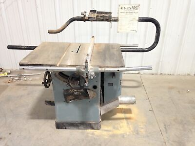 """Delta Unisaw 10"""" Tilting Arbor Table Saw 3475RPM 3HP 3PH w/ 36"""" X 27"""" Table"""