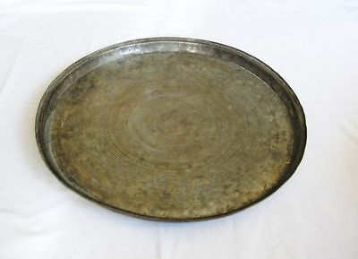 Antique large copper baking dish tray Ottoman Turkish handhammered solid copper