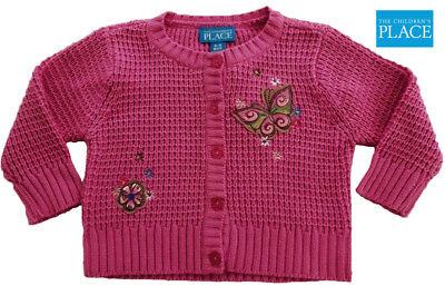 b62a072f9db5 THE CHILDREN S PLACE Girls Baby Rib knit Cardigan Size 6-9 months ...