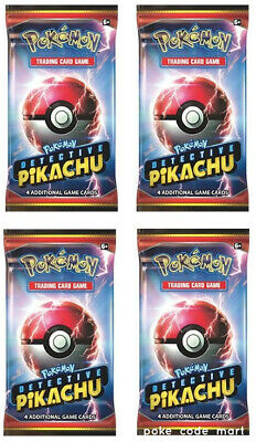 Detective Pikachu Booster Packs x4 - Pokemon TCG - Movie Exclusive Pre-Order