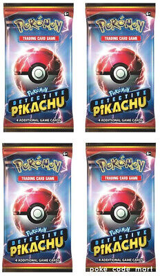 Detective Pikachu Booster Packs x4 - Pokemon TCG - Movie Exclusive