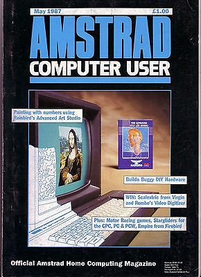 ACU / Amstrad Computer User Magazine - May 1987 - Good Condition - Bagged
