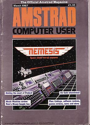 ACU / Amstrad Computer User Magazine - March 1987 - Good Condition - Bagged