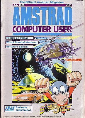 ACU / Amstrad Computer User Magazine - July 1986 - Good Condition - Bagged