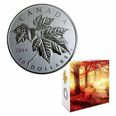 Maple Leaves – 2019 $10 1/2 Oz Fine Silver Coin – Royal Canadian Mint