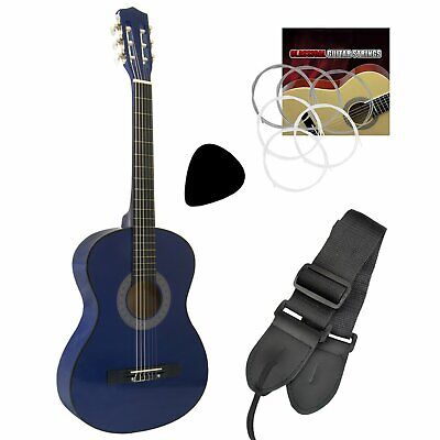 Tiger 1/4 Size Beginners  Classical Guitar - Blue