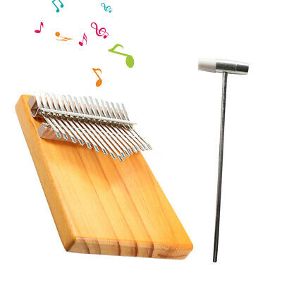 17 Key Kalimba Single Board Mahogany Thumb Finger Piano Keyboard Child Gift O8C9