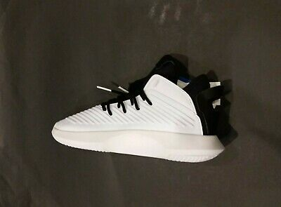 19895cc761cb Adidas Crazy 1 ADV Mens AQ0320 White Black Leather Basketball Shoes Size 9