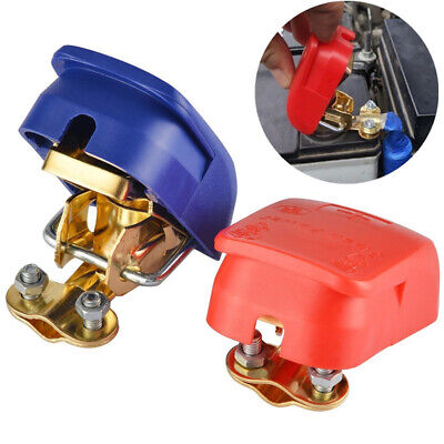 12V Car Battery Terminals Positive Negative Connector Clip Clamp Red Blue