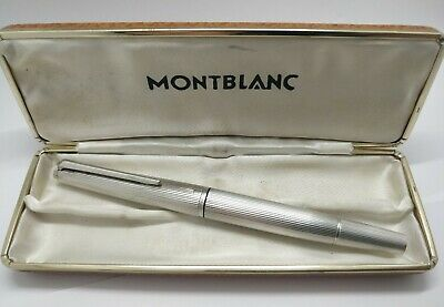 Vintage Montblanc 1266 Solid Silver Fountain Pen