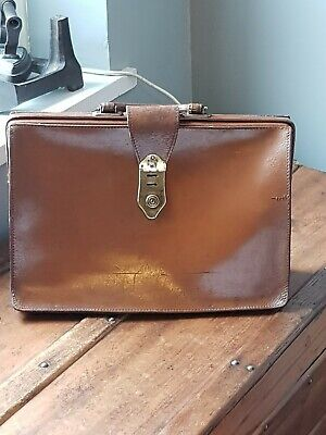 Vintage Leather Brown BriefcaseMADE IN ENGLAND