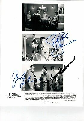James Gandolfini, Bob Thornton E Frances Mc Dormand - Autografi Originali 2001