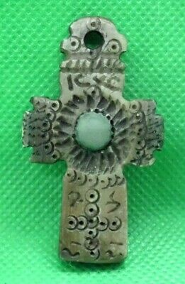 Roman Medieval Byzantine Bone Cross Christian Pendant Amulet - Wearable
