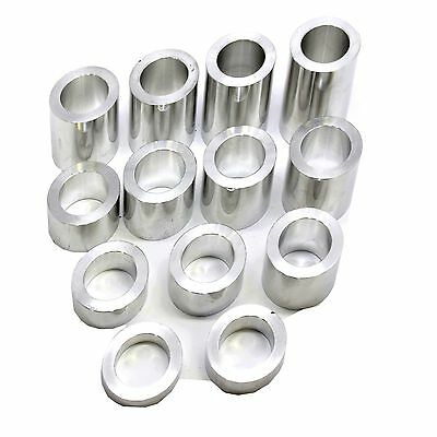 Axle Spacer Kit 3/4 inch- Harley Custom motorcycle–13 Spacers Machined Finish