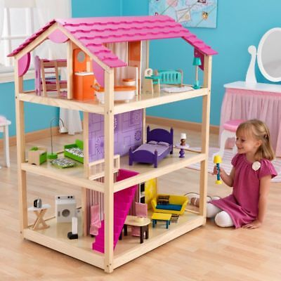 Large Wooden Doll House Doll House Suit Barbie £295