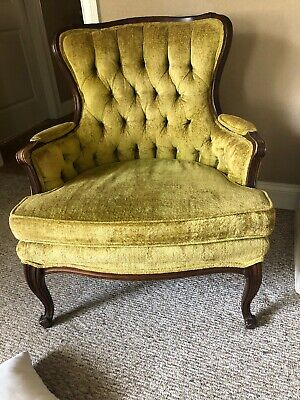 Swell Hollywood Regency Tufted Arm Chairs French Provincial Sam Alphanode Cool Chair Designs And Ideas Alphanodeonline