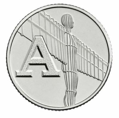 Angel of the North 10p Alphabet 10p A