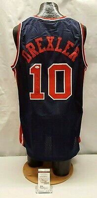 dc02f6979fc2 Clyde Drexler Signed Autographed USA Dream Team Basketball Jersey JSA  W362728