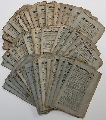 56 Issues of Worcester Magazine from September 1786-March 1788 Federalist Essays